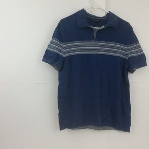 Banana Republic Men's Blue Striped Large Shirt